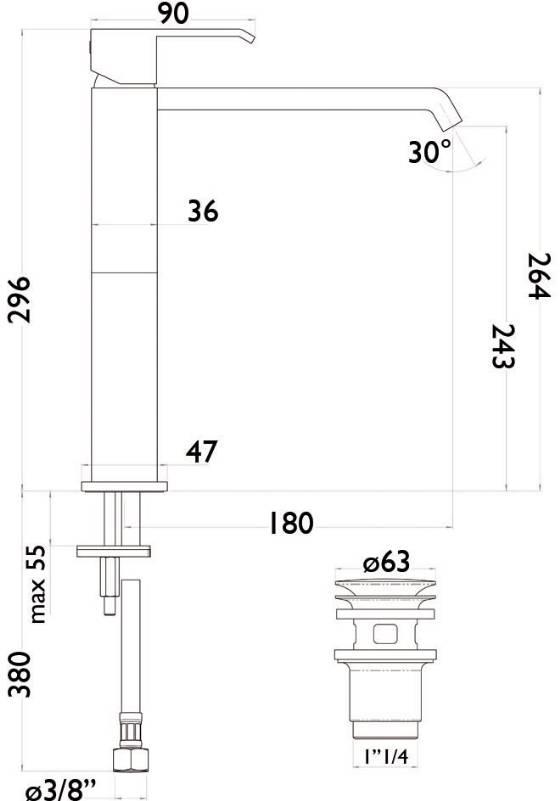 schema robinet domino rehaussé