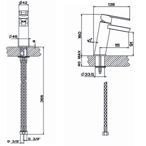 schema robinet mitigeur cascade MAJI