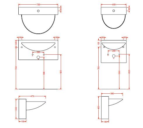 vasque suspendue wall et wall mini en c ramique blanche. Black Bedroom Furniture Sets. Home Design Ideas