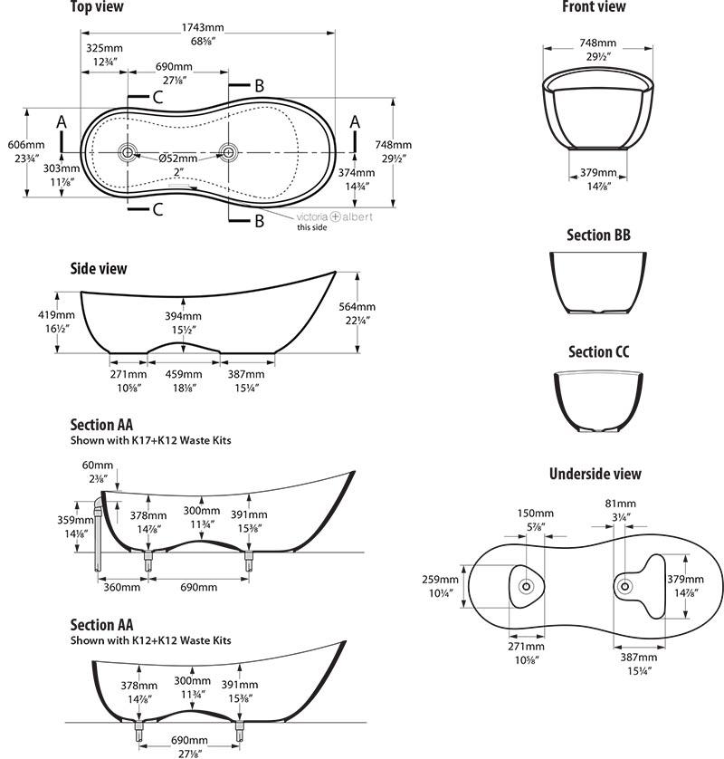 baignoire_design_napoli_de_victoria_albert_schema_technique_des_dimensions