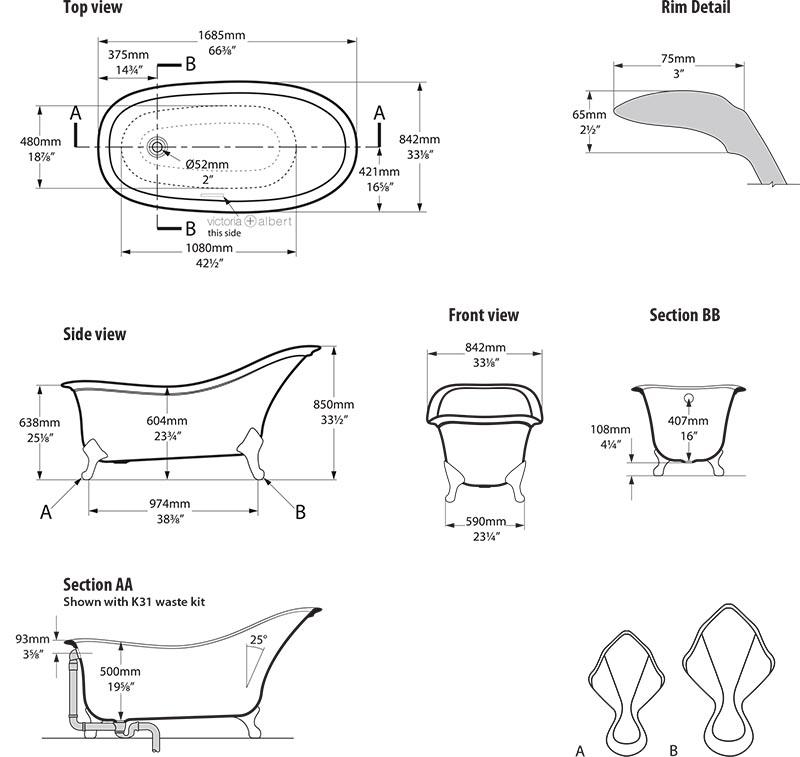 baignoire_design_drayton_de_victoria_albert_schema_technique_des_dimensions