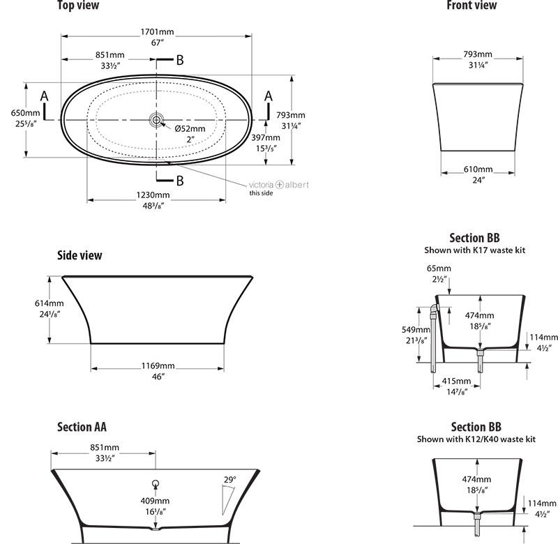 baignoire_design_ionian_de_victoria_albert_schema_technique_des_dimensions
