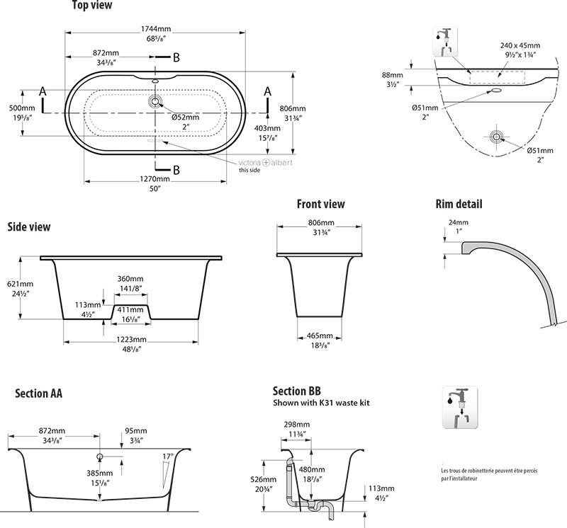 baignoire_design_monaco_de_victoria_albert_schema_technique_des_dimensions