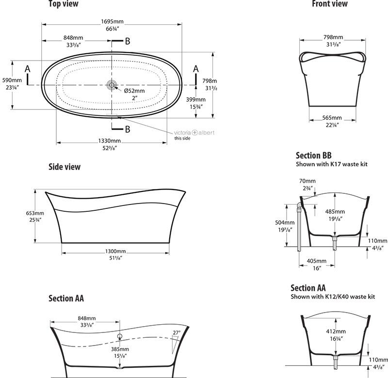 baignoire_design_pescadero_de_victoria_albert_schema_technique_des_dimensions