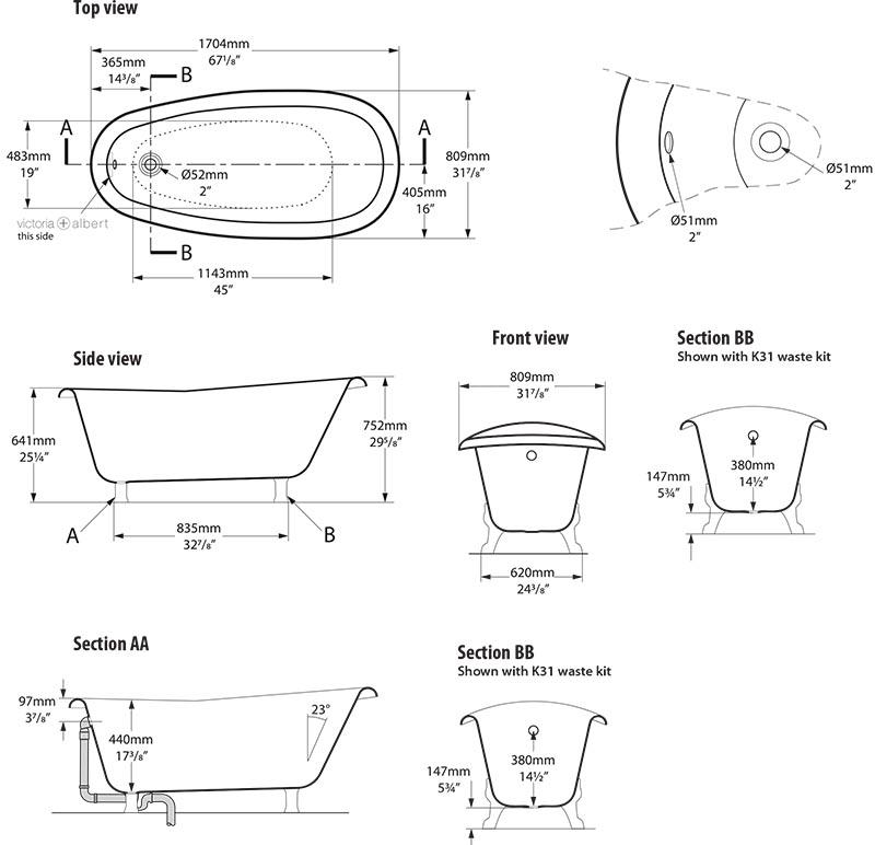 baignoire_design_roxburgh_de_victoria_albert_schema_technique_des_dimensions