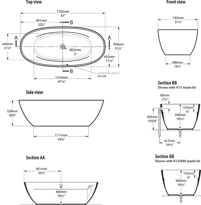 baignoire_design_terrassa_de_victoria_albert_schema_technique_des_dimensions