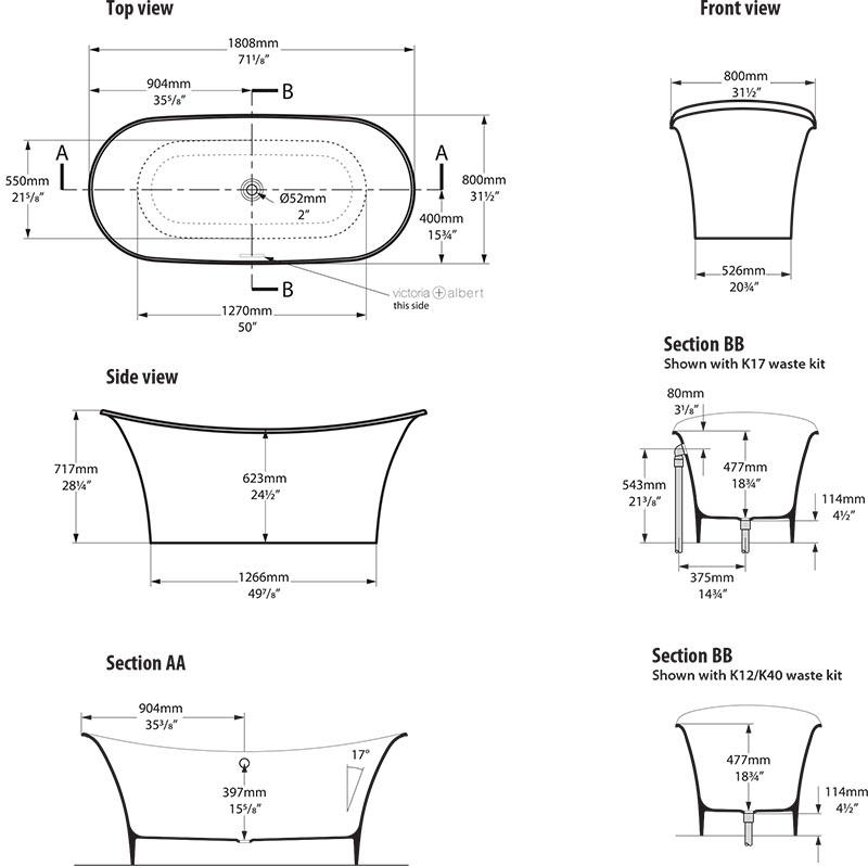 baignoire_design_toulouse_de_victoria_albert_schema_technique_des_dimensions