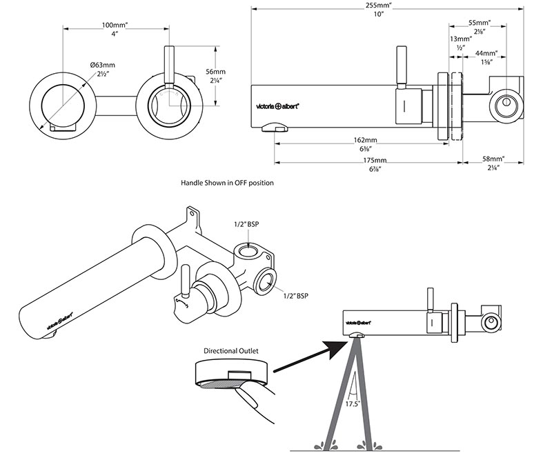 mitigeur_mural_design_tubo_17_de_victoria_albert_schema_technique_des_dimensions