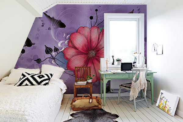 papier peint deco anemone violet Déco, bien être et papier peint : trio de choc !