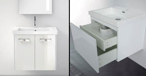Meuble de salle de bain avec porte ou tiroir une vasque for Une porte biens meuble ou immeuble